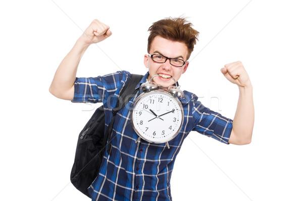 Estudiante que falta estudiar plazos blanco escuela Foto stock © Elnur