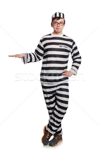 Funny Gefängnis Häftling Polizei Freiheit weiß Stock foto © Elnur