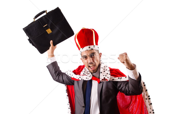 King businessman isolated on the white Stock photo © Elnur