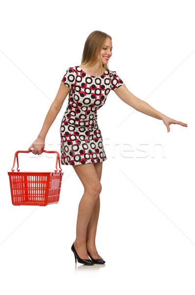 Woman in shopping concept isolated on white Stock photo © Elnur