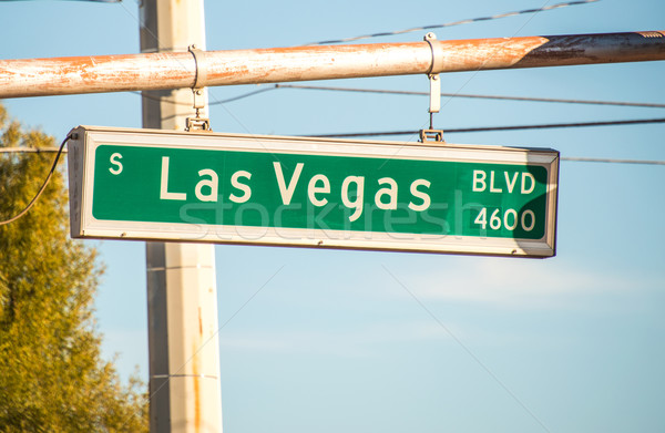 Las Vegas street sign on summer day Stock photo © Elnur