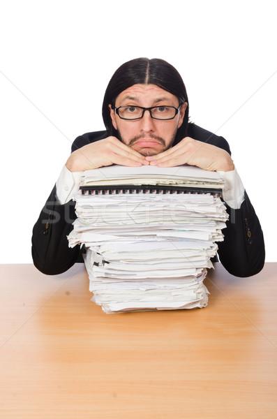 Affaires accablé paperasserie homme travaux Photo stock © Elnur