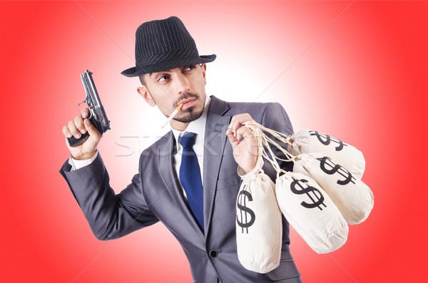 Imprenditore penale soldi uomo maschera bag Foto d'archivio © Elnur