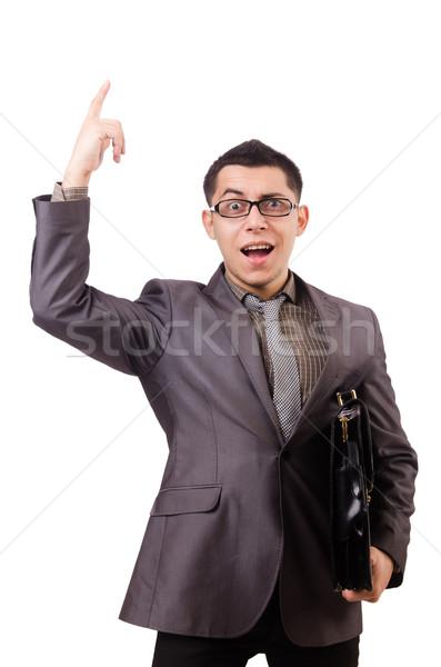 Jonge man aktetas geïsoleerd witte business Stockfoto © Elnur