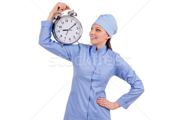 Mujer médico que falta plazos médicos fondo Foto stock © Elnur