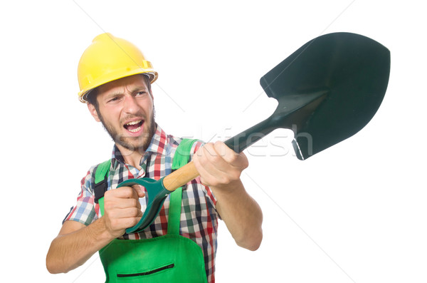 Stok fotoğraf: Endüstriyel · işçi · yalıtılmış · beyaz · adam · inşaat