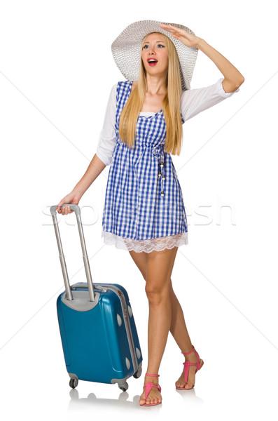 женщину готовый лет путешествия изолированный белый Сток-фото © Elnur
