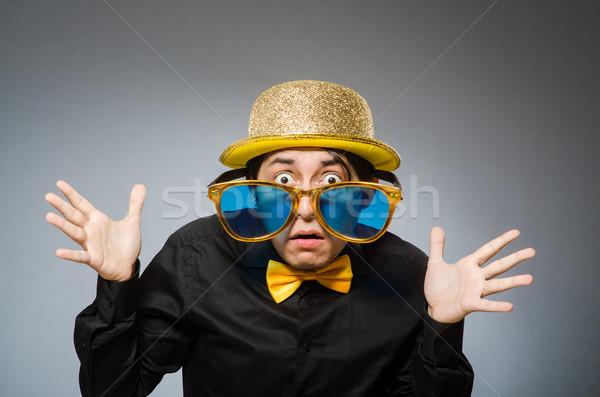 смешные человека Vintage Hat бизнеса бизнесмен Сток-фото © Elnur