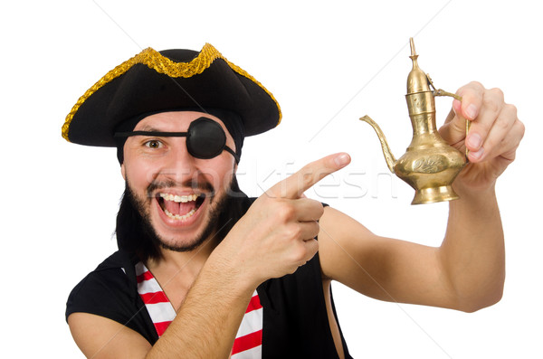 Man pirate isolated on the white background Stock photo © Elnur