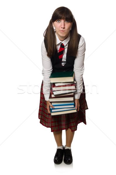 Drôle nerd étudiant isolé blanche femme Photo stock © Elnur