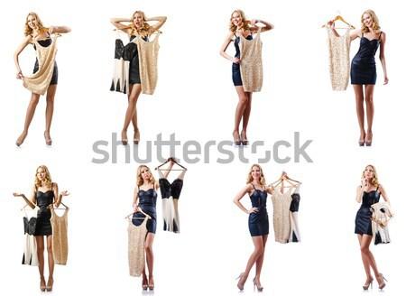 Stock fotó: összetett · fotó · meztelen · üzletember · fehér · munka