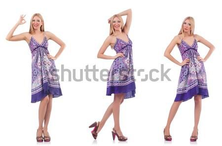 Moda alto modelo branco mulher feliz Foto stock © Elnur
