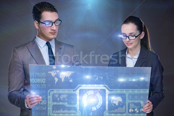 Two people discussing it strategy Stock photo © Elnur