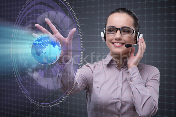The call center operator in global business concept Stock photo © Elnur