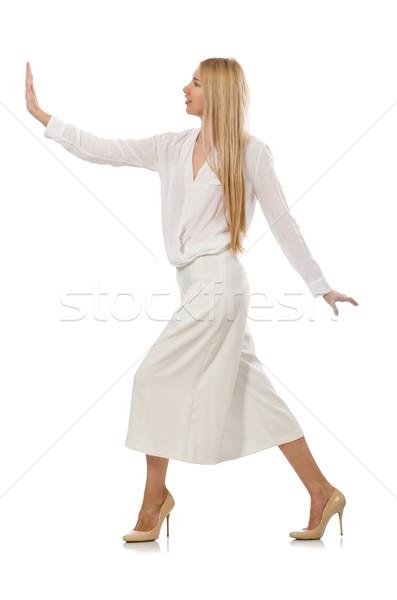 Loiro cabelo modelo elegante calças isolado Foto stock © Elnur