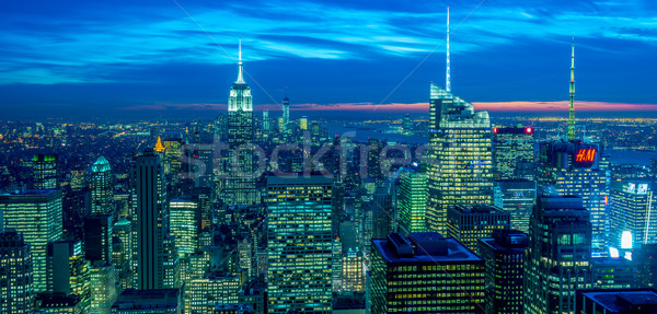 Stock photo: New York - DECEMBER 20, 2013: View of Lower Manhattan on Decembe