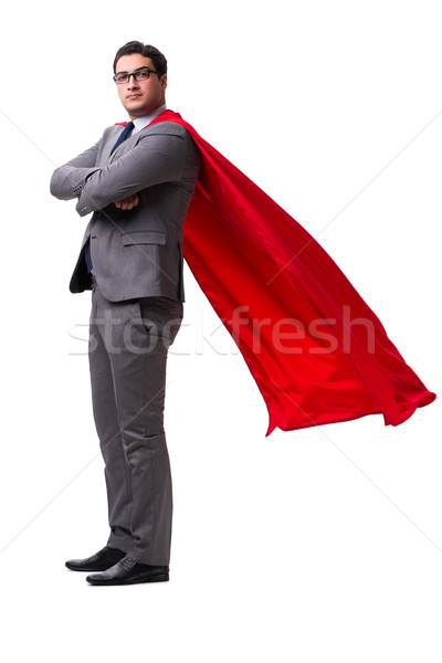 Super hero businessman isolated on white  Stock photo © Elnur