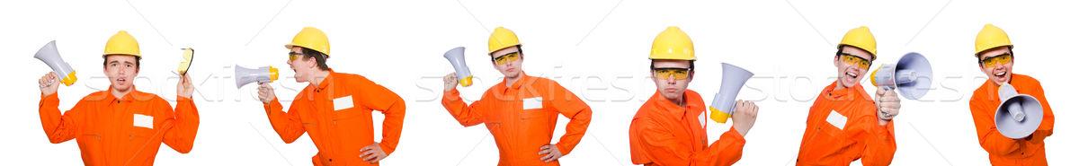 Constructor altavoz aislado blanco negocios fondo Foto stock © Elnur
