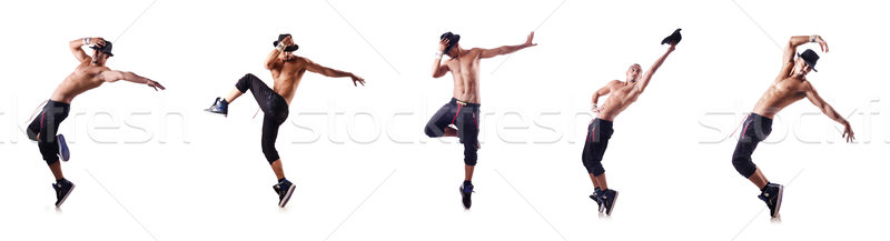 The ripped dancer isolated on the white Stock photo © Elnur