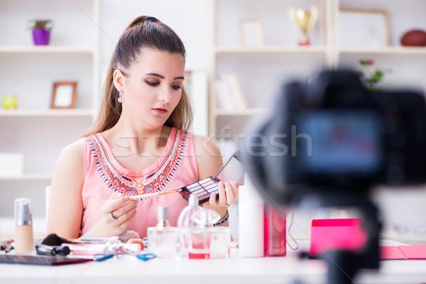 красоту моде блоггер видео Блог глаза Сток-фото © Elnur