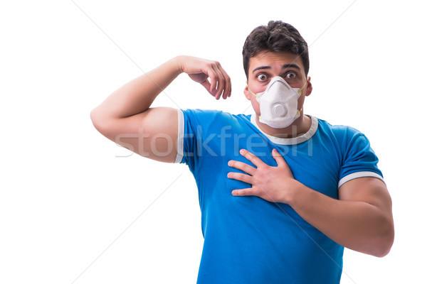 Homme transpiration mauvais isolé blanche visage Photo stock © Elnur