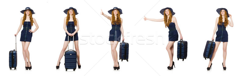 The woman ready for summer holiday isolated on white Stock photo © Elnur
