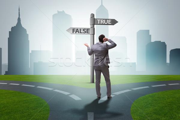 Empresario difícil elección comunicación éxito cuestión Foto stock © Elnur