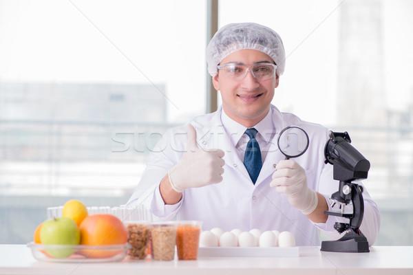 питание эксперт продовольствие продукции лаборатория Сток-фото © Elnur