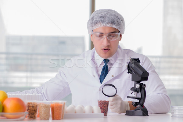 Nutrition expert testing food products in lab Stock photo © Elnur