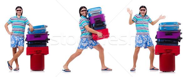 Adam yaz tatili iş çalışmak işadamı çanta Stok fotoğraf © Elnur