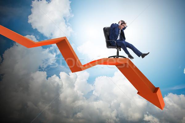 üzletember lefelé szék gazdasági válság üzlet Stock fotó © Elnur