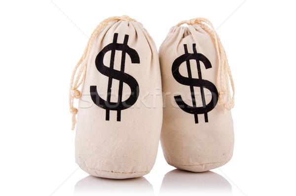 Tele pénz fehér üzlet háttér bank Stock fotó © Elnur