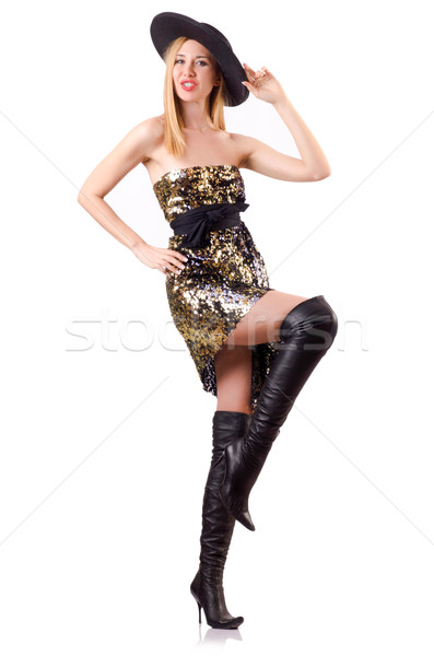 Tall model during fashion shoot out Stock photo © Elnur