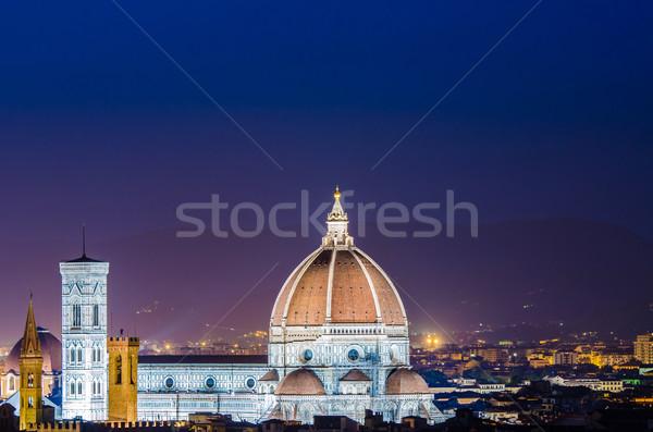 いい 表示 フィレンツェ 空 日没 ストックフォト © Elnur