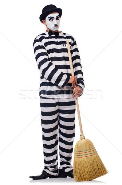 Prigioniero ginestra isolato bianco legge cinema Foto d'archivio © Elnur
