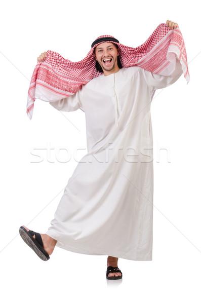 Dancing arab man isolated on white Stock photo © Elnur