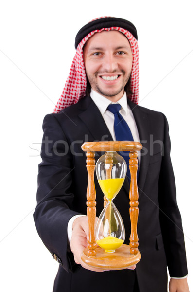 Arab man thinking about passage of time Stock photo © Elnur