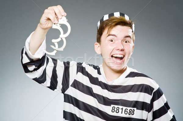 Divertente carcere detenuto polizia palla libertà Foto d'archivio © Elnur