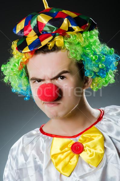 Vicces bohóc humor mosoly jókedv kalap Stock fotó © Elnur
