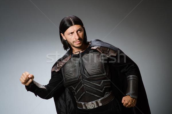 Mérges harcos sötét férfi öltöny jókedv Stock fotó © Elnur