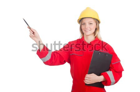 Woman in industrial concept isolated on white Stock photo © Elnur