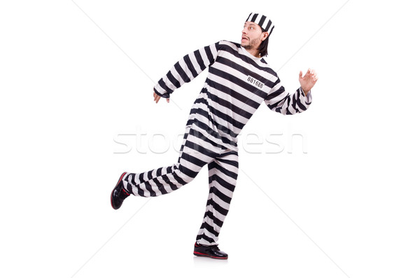 Prison inmate isolated on the white background Stock photo © Elnur