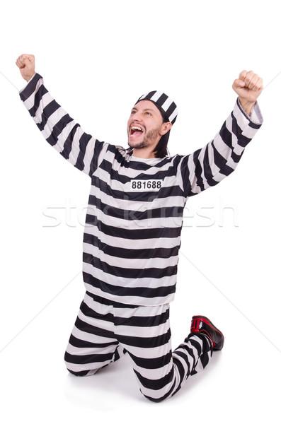 Prisão internado isolado branco feliz diversão Foto stock © Elnur