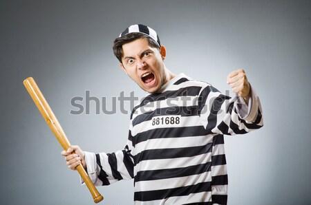 Gevangenis bewoner geïsoleerd witte gelukkig leuk Stockfoto © Elnur