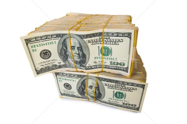 Dolar iş yalıtılmış beyaz para Stok fotoğraf © Elnur
