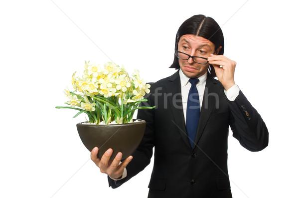 élégant affaires isolé blanche bureau Photo stock © Elnur