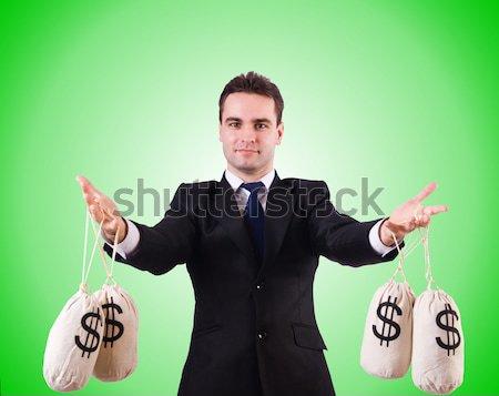 Empresario criminal dinero hombre fondo negro Foto stock © Elnur