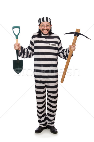 Prison inmate with axe and spade Stock photo © Elnur