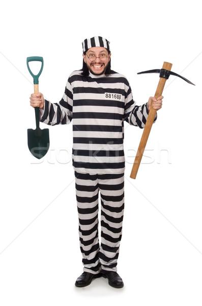 тюрьмы заключенный топор лопата льда свободу Сток-фото © Elnur