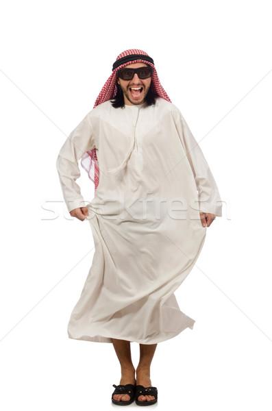 Happy arab man isolated on white Stock photo © Elnur